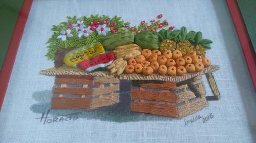 colección de cuadros bordados 100% a mano  mercado mexicano