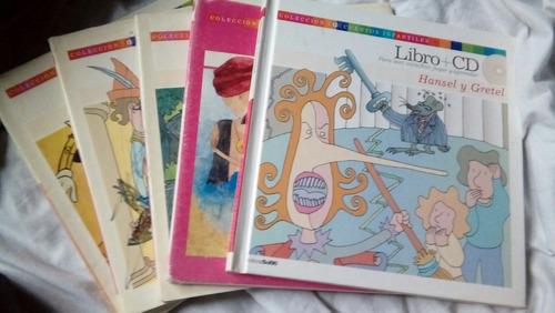 colección de cuentos infantiles con cd interactivo