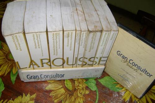 colección de diccionarios larousse gran consultor con cd.