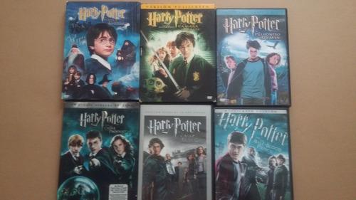 colección de dvds harry potter