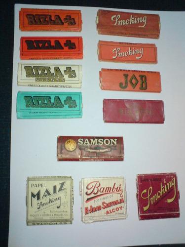 coleccion de envases de papel arroz smoking