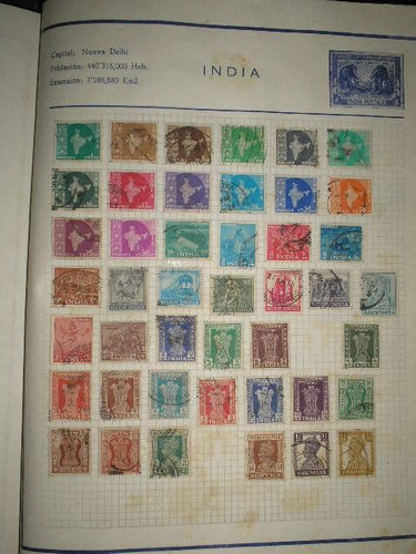 coleccion de estampillas de la india
