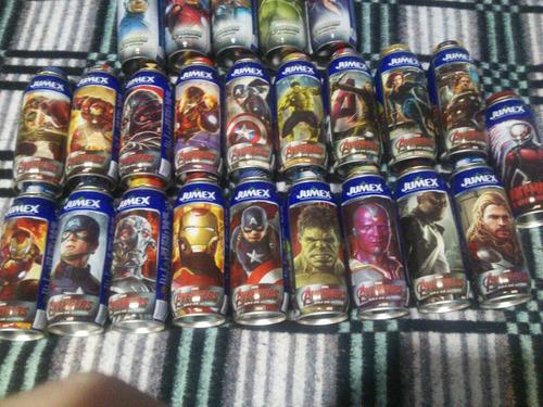 colección de latas jumex de los avengers completa
