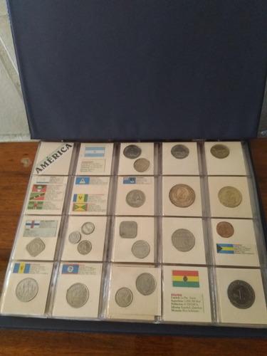colección de monedas continente americano