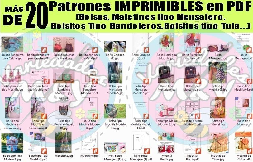 Colección De Patrones De Carteras Tipo Bolsos, Mochilas - $ 56,00 en ...