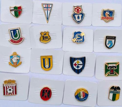 colección de pins fútbol chileno