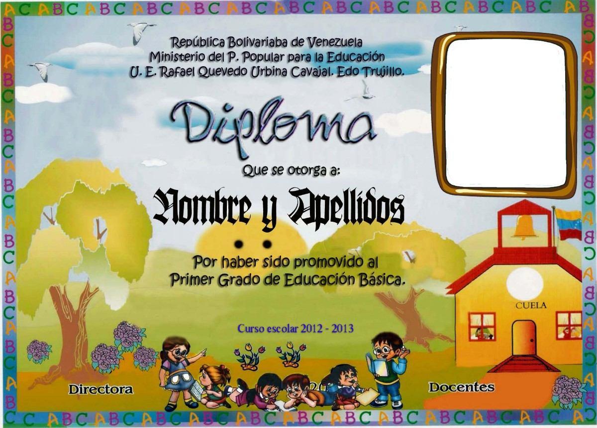 Diplomas Escolares Infantiles Para Nios Para Imprimir Y Descargar
