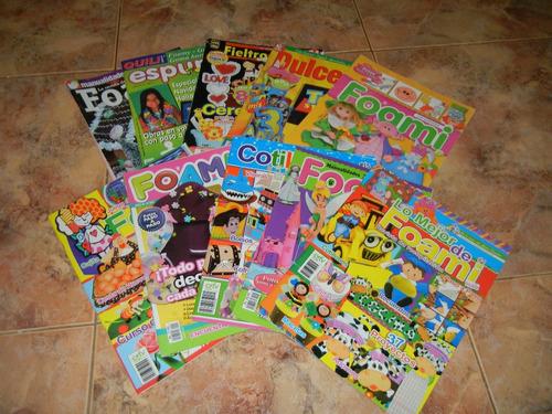 colección de revistas foami manualidades y fiestas