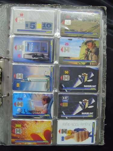 colección de tarjetas chip de antel uruguay cambio permuto