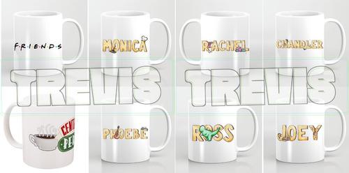 coleccion de tazas de la serie friends / central perk