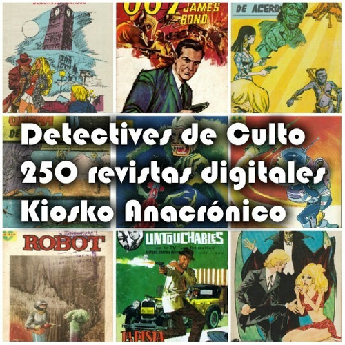 coleccion detectives de culto antiguas revistas digitalizada