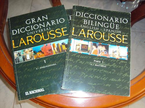colección diccionario larousse universal español-ingles