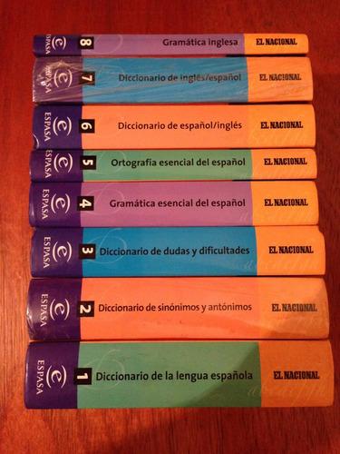 coleccion diccionarios el nacional - español/ingles - espasa
