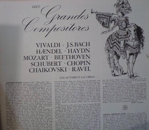 colección discos lp grandes composiciones. bach, beethoven,