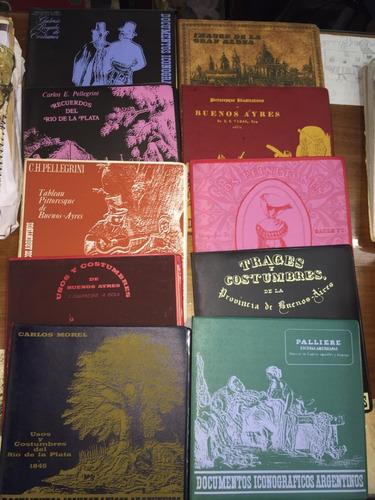coleccion documentos iconograficos argentinos. 10 tomos
