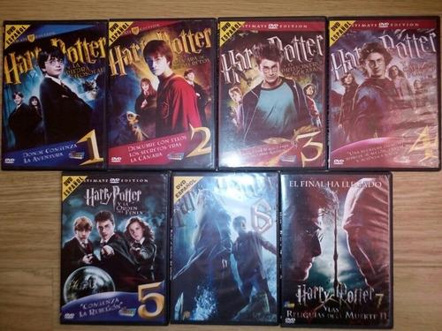 coleccion dvd harry potter - 7 titulos en 8 discos