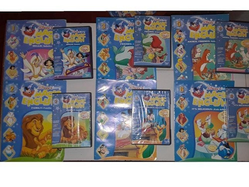 colección ingles para niños magic english libros +dvd
