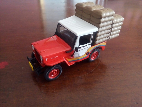 colección jeep willys cj-3b cafetero