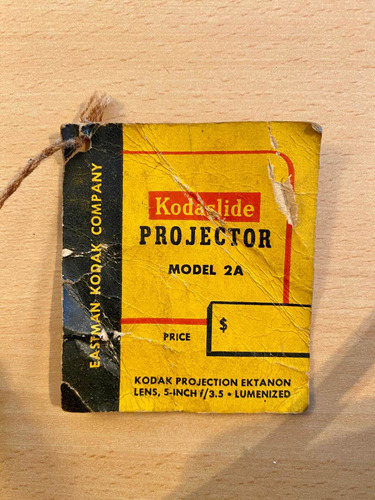 colección. kodak slide projector model 2a. lampara 100/150w