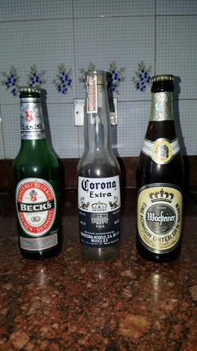 colección latas y botellas de cerveza importadas retro