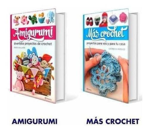 coleccion libros de crochet planeta 2 vol + estuche