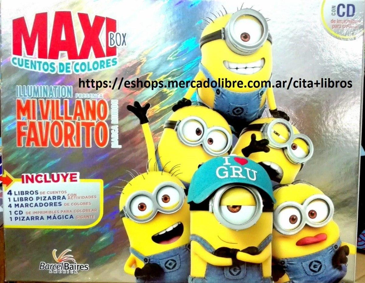 Colección Maxi Box 5 Libros Mi Villano Favorito Minions + Cd ...