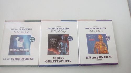 colección michael jackson el rey del pop libros +cd's+dvds