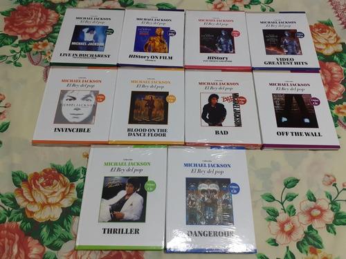 colección michael jackson libros + cd+ dvd.