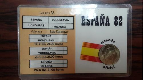 coleccion moneda conmemorativa oficial mundial fútbol esp.82