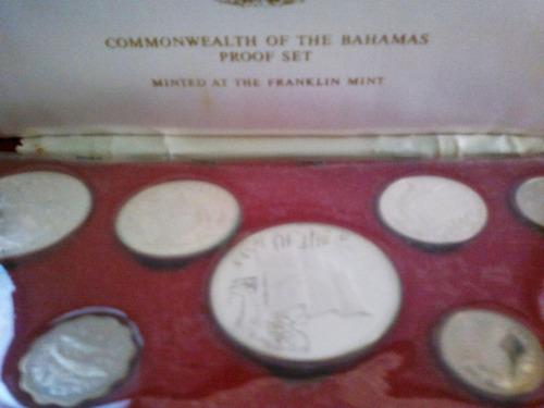 colección monedas de bahamas  proof  en estuche