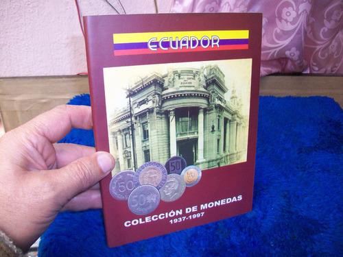 coleccion monedas de ec., medio,real,peseta,cinqueño y sucre