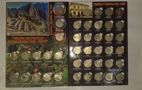 coleccion monedas riqueza y orgullo peru + fauna silvestre