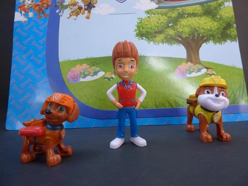 coleccion muñeco de patrulla canina y niño