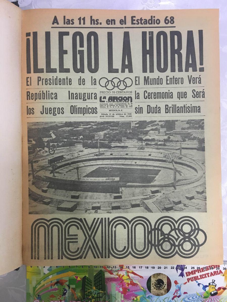 Coleccion Periodicos Juegos Olimpicos Mexico 1968 3 Tomos