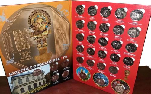 colección riqueza y orgullo del perú monedas - 30 monedas