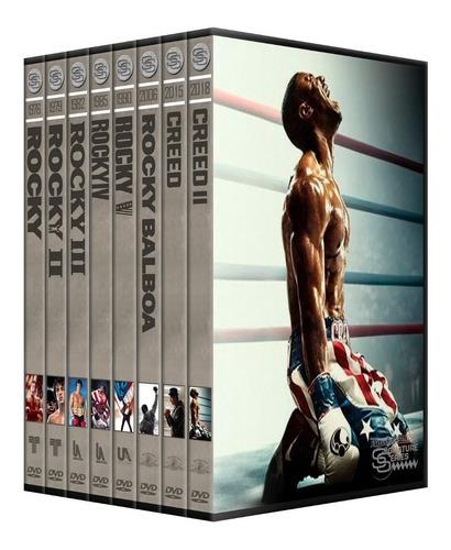 coleccion rocky balboa 1976-2018  dvd latino
