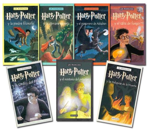 colección saga completa de libros de harry potter