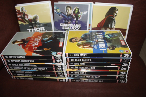 coleccion saga marvel 22 dvds finales maxima calidad + envio