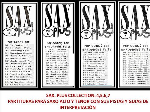 colección sax. plus pistas y partituras