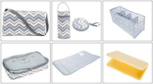 colección soho, louvre juego de bolsas de pañales de 9 pieza