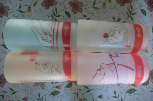 colección vasos de coca cola - serie osos polares