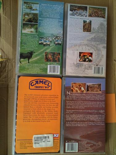 coleccion videos vhs - dvd land rover camel trophy