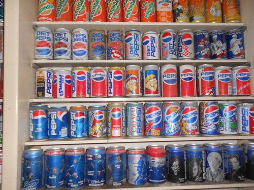 coleccion viejas latas coca, pepsi, etc,  216 unidades