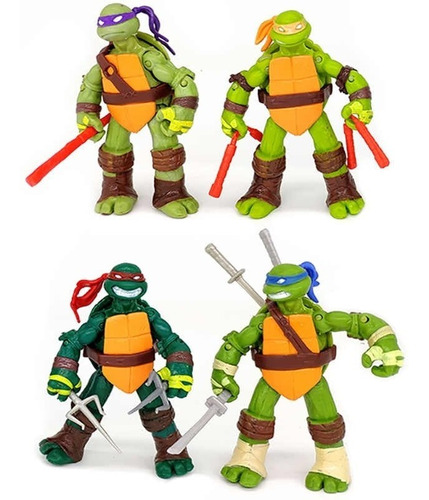 colección x4 figuras de acción 12cm tortugas ninja  2030-6