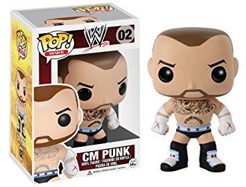 coleccionable funko pop wwe figura c.m punk acción