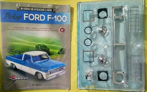 coleccionable pickup ford f-100 - piezas 1 y 2 - escala 1:8