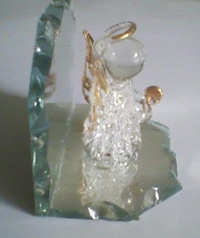coleccionables - miniaturas - angelito de cristal