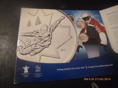coleccionador monedas 25 cents canada  vancuver 2010(440