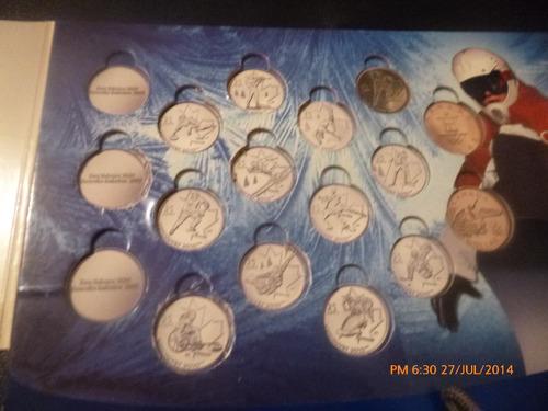 coleccionador monedas 25 cents canada  vancuver 2010(r484