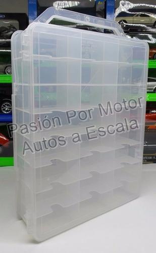 coleccionador plastico transparente p48 hot wheels 1:64